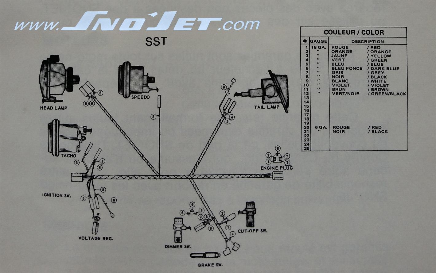 74SSTwd 1974 sno jet sst ( key switch wiring),Sst Wiring Diagram