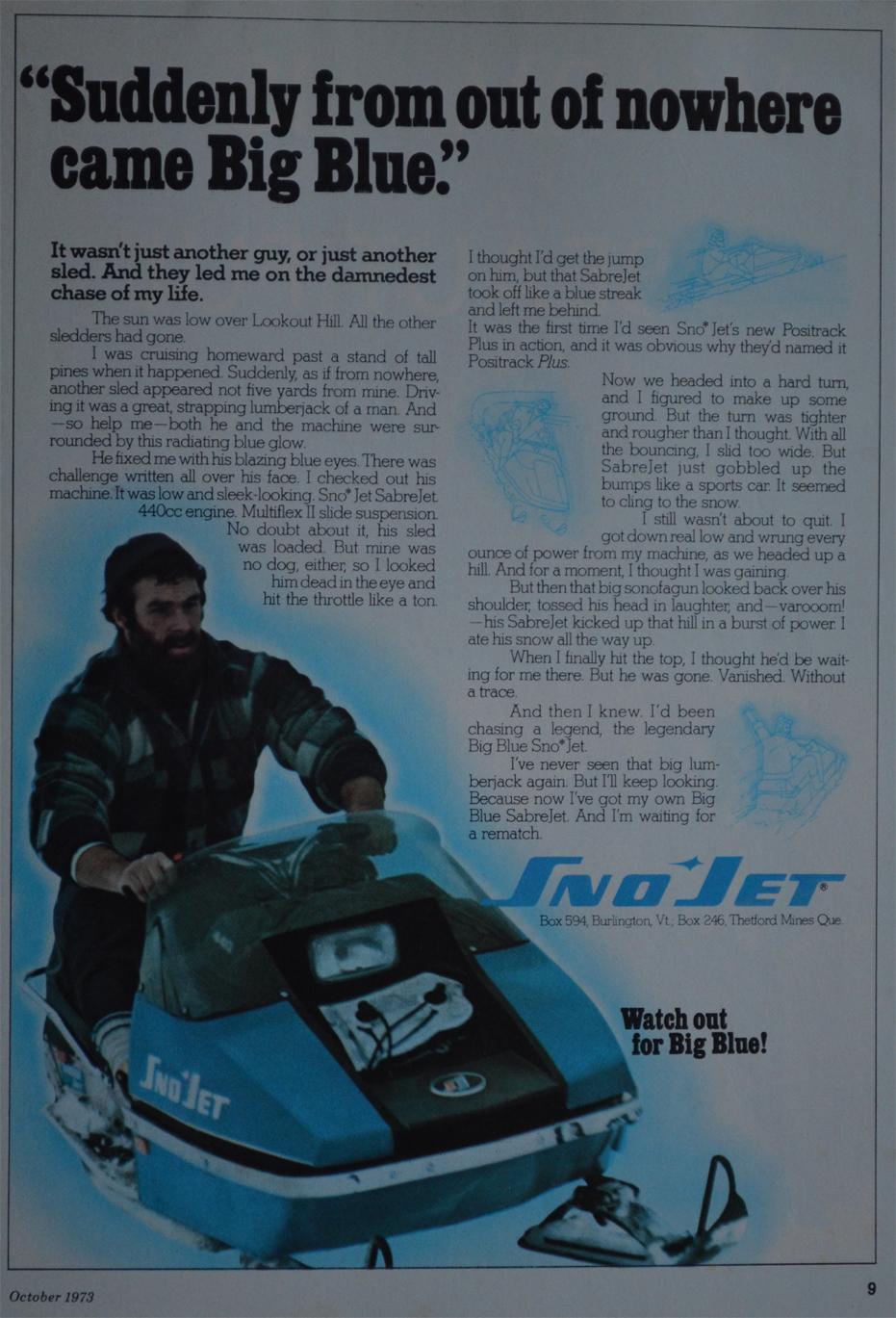 1973 Sno*Jet · 1974 Sabre Jet Ad ...